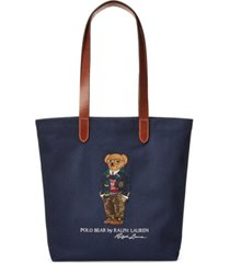 polo ralph lauren men's polo bear twill shopper tote