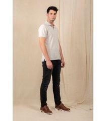 jeans semifitted denim negro