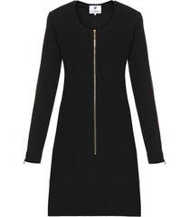sukienka dopasowana z suwakiem czarna