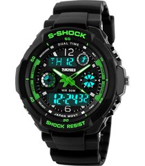 reloj skmei 0931 men's digital led quartz military - verde (l)