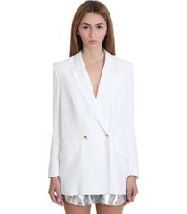 iro adelie blazer in white viscose
