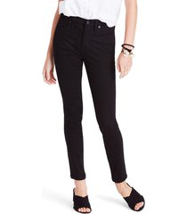 women's madewell 9-inch high waist skinny jeans, size 32 - black