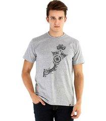 camiseta ouroboros manga curta strength & wisdom masculina