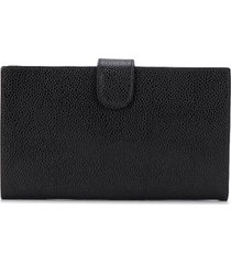 chanel pre-owned 1998 vertical bi-fold wallet - black