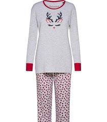 pyjama long pyjamas grå schiesser