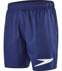speedo sport solid watershort zwembroek blue white logo