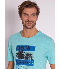 camiseta aleatory estampada hawaii - masculina - masculino