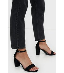 nly shoes block mid heel sandal high heel svart