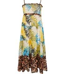 river island womens plus blue shirred tiered maxi beach dress