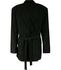 acne studios belt-tie blazer