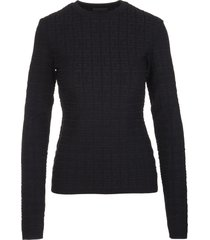 givenchy woman black 4g knitted pullover with long sleeves
