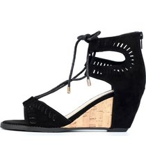 sandalia mujer plataforma negro - le frankie