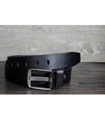 "durable men's leather belt made of full grain cowskin black wide1.5"" b61120-224"