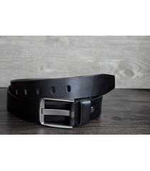 "durable men's leather belt made of full grain cowskin black wide1.5"" b61120-224"