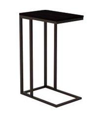 mesa lateral retangular elena wood preta