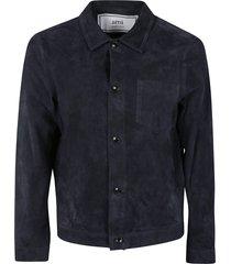 ami alexandre mattiussi chest patch pocket detail buttoned jacket