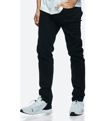 slim stay black jeans - svart
