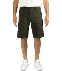c.p. company c.p.company military green cargo bermuda shorts