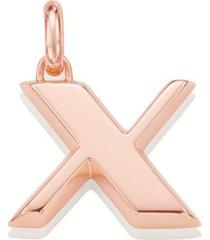 alphabet pendant x, rose gold vermeil on silver
