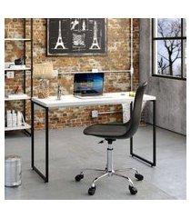 mesa de escritório studio branca 120 cm