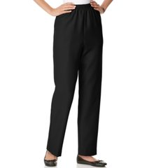 alfred dunner classics pull-on straight-leg pants