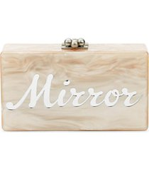 jean mirror mirror marbled box clutch