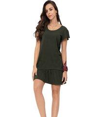 vestido corto para mujer verde militar rutta