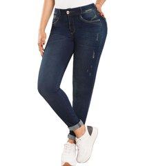 jeans colombiano control de abdomen dg azul new rodivan