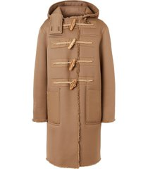 burberry reversible hooded duffle coat - neutrals