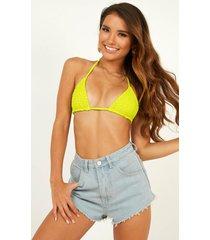 showpo chloe bikini top in lime - 16 (xxl) bikini sets