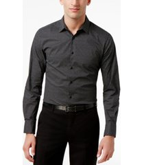 inc men's micro-square slimfit stretch shirt, created for macy's