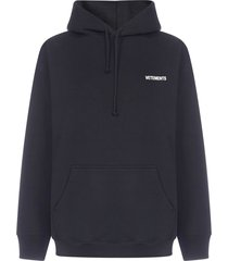 vetements logo oversized cotton hoodie