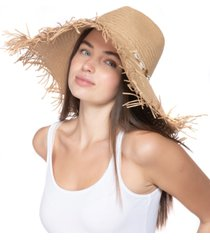 inc international concepts oversized fedora-top frayed floppy hat, created for macy's