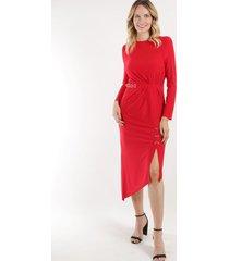 vestido con aro romana rojo night concept