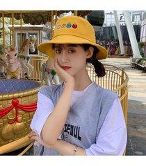 bordado de frutas de dibujos animados sombrero de olla para mujeres pin