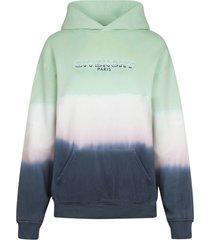multicolored dip-dye logo hoodie
