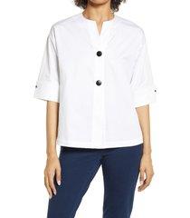 women's ming wang high-low jacket, size medium - white