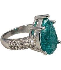 anel papillô joias gota fusion turmalina, em ródio branco