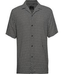 aop s/s resort shirt overhemd met korte mouwen grijs junk de luxe