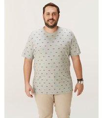 camiseta tradicional em meia malha wee! cinza claro - m