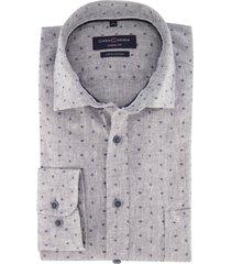 casa moda casual fit shirt borstzak print grijs