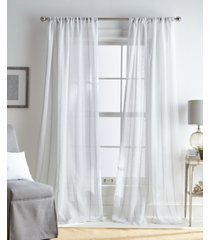 "martha stewart hampton stripe pole top 50"" x 95"" curtain panel"