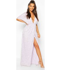 boutique sequin plunge maxi dress, lilac