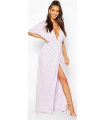boutique sequin plunge maxi dress, lilac