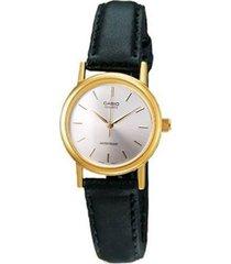 reloj casio ltp-1095q-1a analogo 100% original-negro