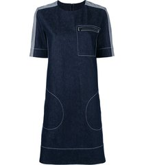 marni stitched shift dress - blue
