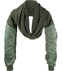 ambush mix long-sleeve scarf - green