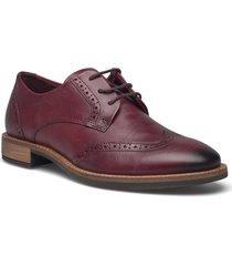 sartorelle 25 tailored snörade skor låga röd ecco