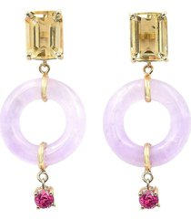 bondeye jewelry 14kt yellow gold emerald cut munchkin jelly earrings -