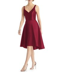 women's alfred sung sweetheart neck cocktail dress, size 18 - burgundy